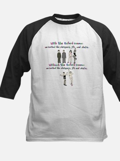 Oxford comma Kids Baseball Jersey