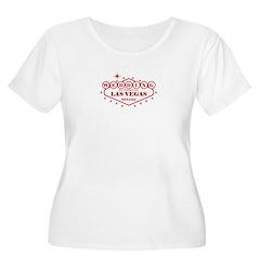 Red Las Vegas Wedding Plus Size Scoop Neck Shirt