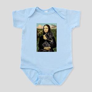 Mona's Black Lab Infant Bodysuit