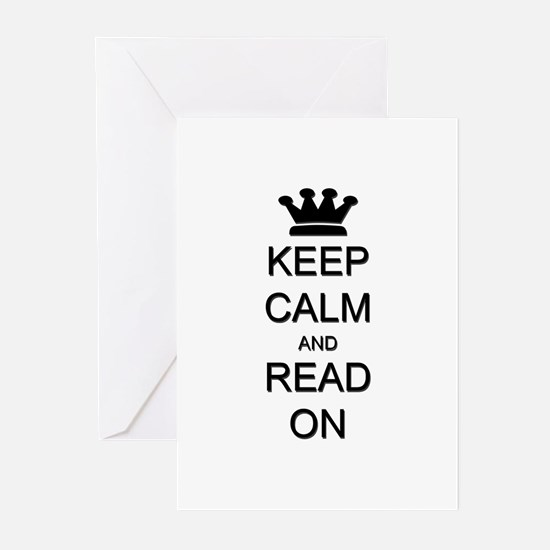 Keep Calm and Read On Greeting Cards (Pk of 20)