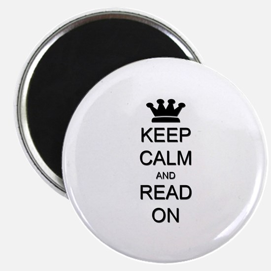 "Keep Calm and Read On 2.25"" Magnet (10 pack)"