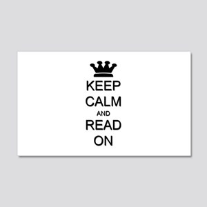 Keep Calm and Read On 22x14 Wall Peel