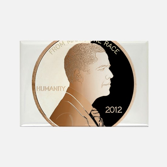 Obama Humanity Penny Rectangle Magnet
