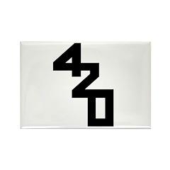 420 STARRZ Rectangle Magnet