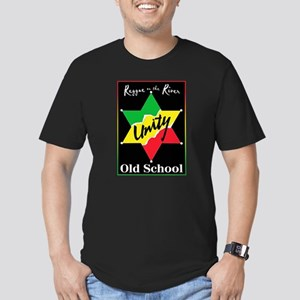 OLD SCHOOL Men's Fitted T-Shirt (dark)