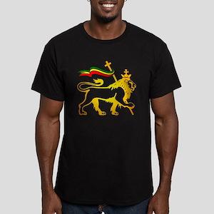 KING OF KINGZ LION Men's Fitted T-Shirt (dark)