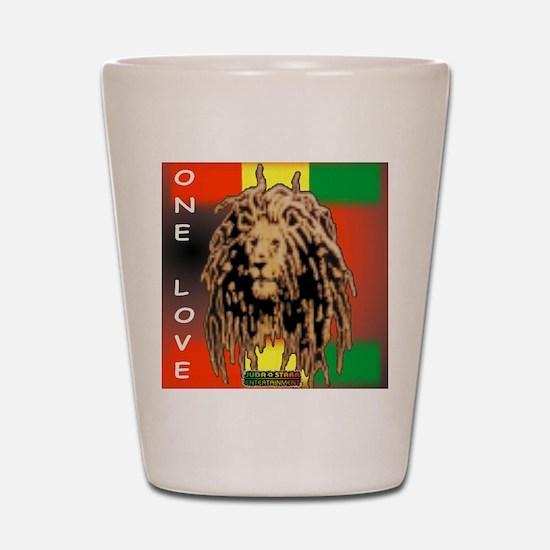 ONE LOVE LION Shot Glass