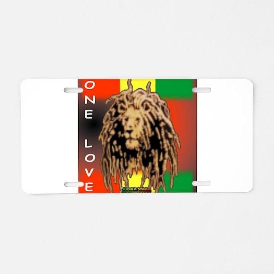 ONE LOVE LION Aluminum License Plate