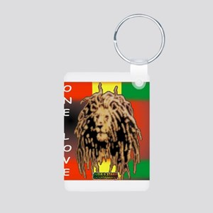 ONE LOVE LION Aluminum Photo Keychain
