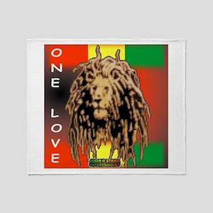 ONE LOVE LION Throw Blanket