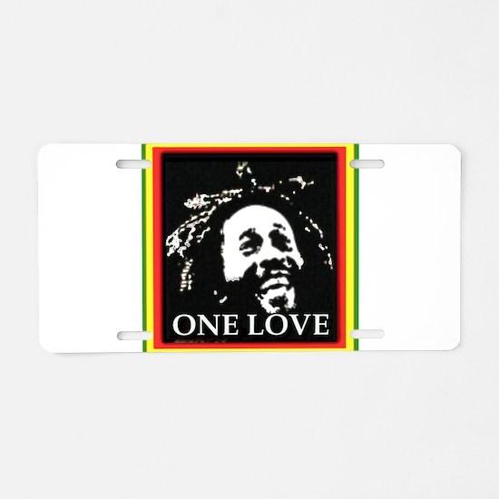 ONE LOVE Aluminum License Plate