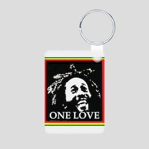 ONE LOVE Aluminum Photo Keychain
