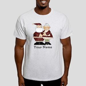 Custom Santa and Mrs. Clause Light T-Shirt