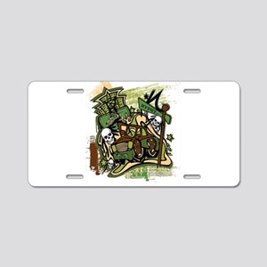(HYPHY) GHOST RIDE THE WHIP Aluminum License Plate