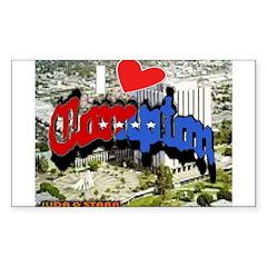 I LOVE COMPTON Sticker (Rectangle 10 pk)