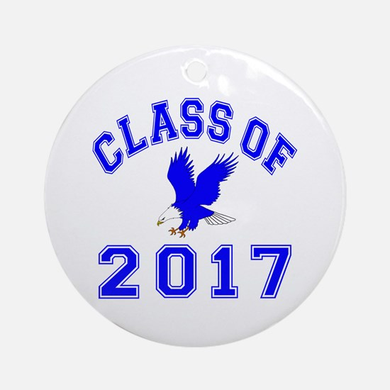 Class Of 2017 Eagle Ornament (Round)