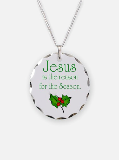 Cute Jesus Necklace Circle Charm