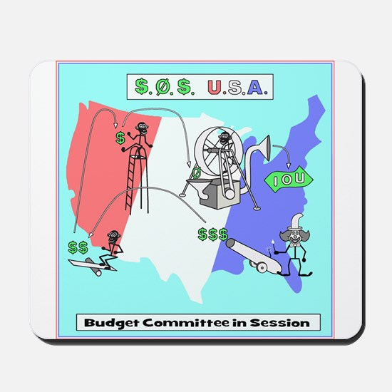 Budget Humor Art Mousepad
