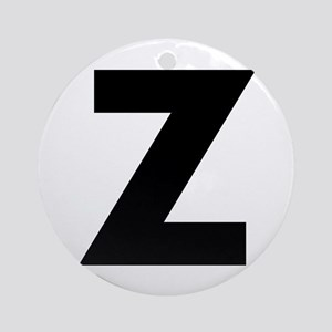 Letter Z Ornament (Round)