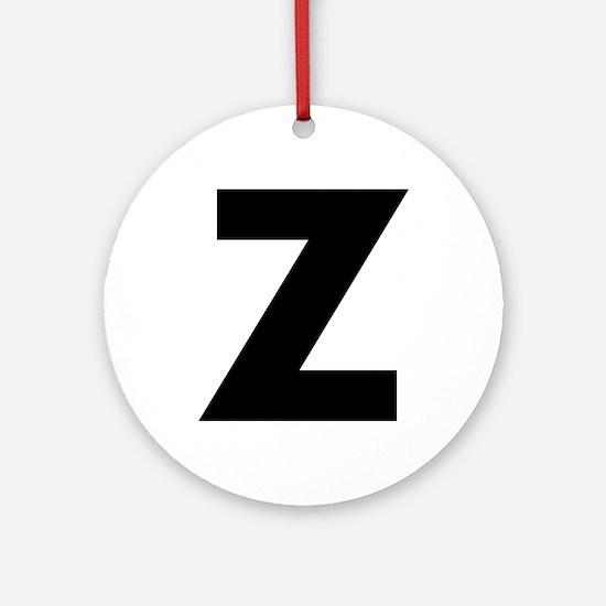 Letter Z Ornament (Round)