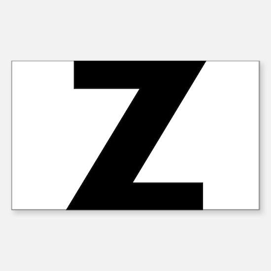 Letter Z Sticker (Rectangle)