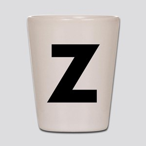 Letter Z Shot Glass