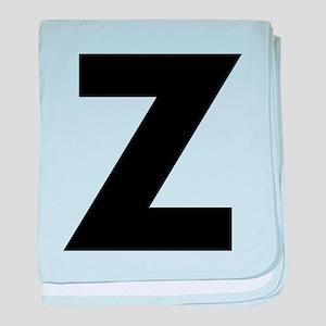 Letter Z baby blanket