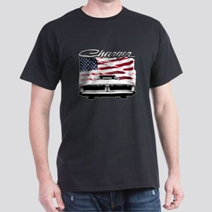 1969 Charger USA flag front T-Shirt