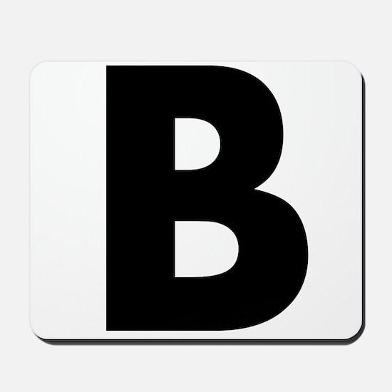 Letter B Mousepad