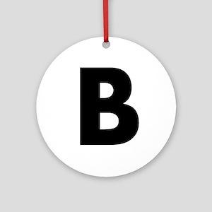 Letter B Ornament (Round)