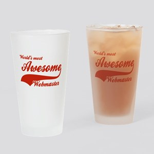 World's Most Awesome Webmaster Drinking Glass