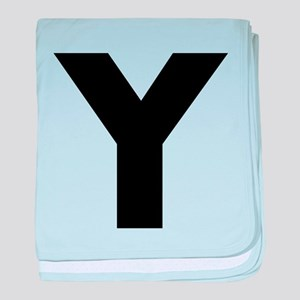 Letter Y baby blanket