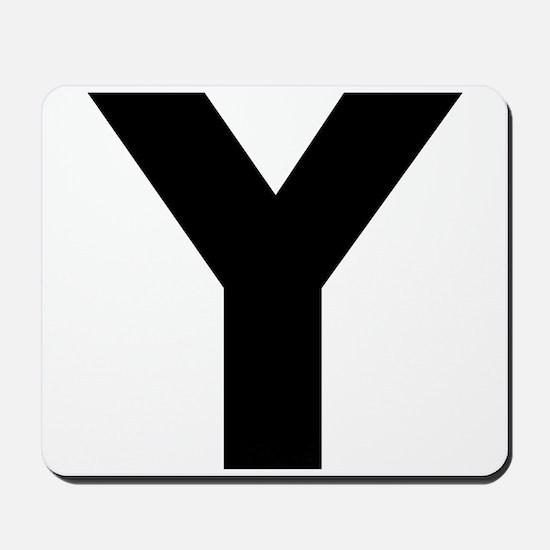 Letter Y Mousepad