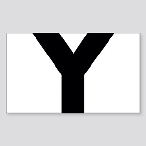 Letter Y Sticker (Rectangle)