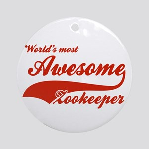 World's Most Awesome Zookeeper Ornament (Round)