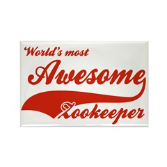 World's Most Awesome Zookeeper Rectangle Magnet (1