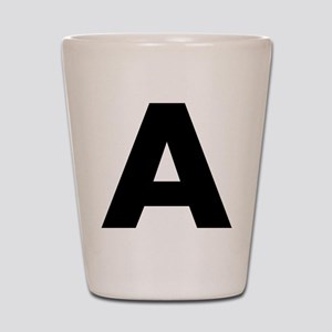 Letter A Shot Glass