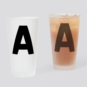Letter A Drinking Glass