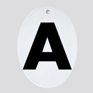 Letter A Ornament (Oval)
