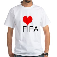 Love FIFA White T-Shirt