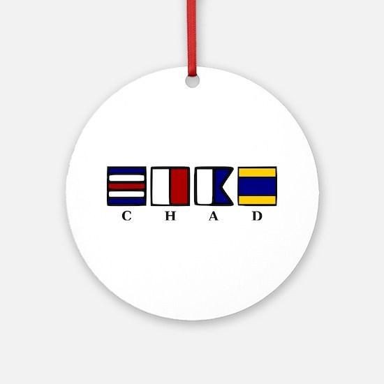nautical chad Ornament (Round)