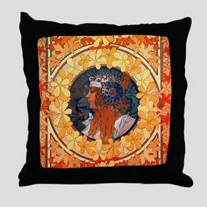 Byzantine Blonde Head Throw Pillow