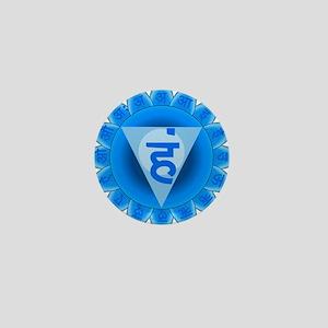 Blue Vishuddhi Throat Chakra Mini Button
