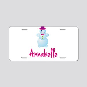 Annabelle the snow woman Aluminum License Plate