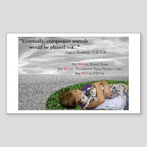 Say NO to PETA Sticker (Rectangle)