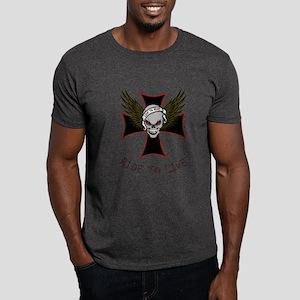 LIVE TO RIDE-SKULL & CROSS Dark T-Shirt