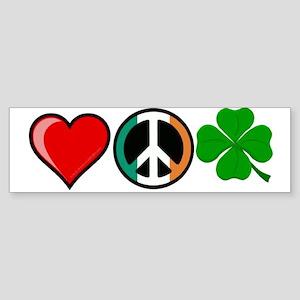 Love Peace Clover Sticker (Bumper)