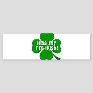 Kiss Me I'm Irish Sticker (Bumper)