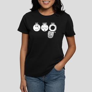 Eat Sleep Tuba Women's Dark T-Shirt