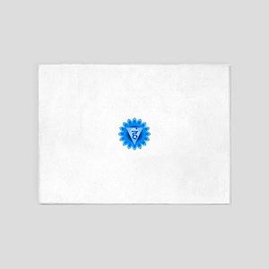 Blue Vishuddhi Throat Chakra 5'x7'Area Rug